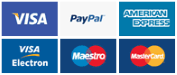 We accept payment via Paypal and major credit cards