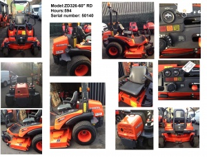 Used KUBOTA ZD326 Zero Turn Mower