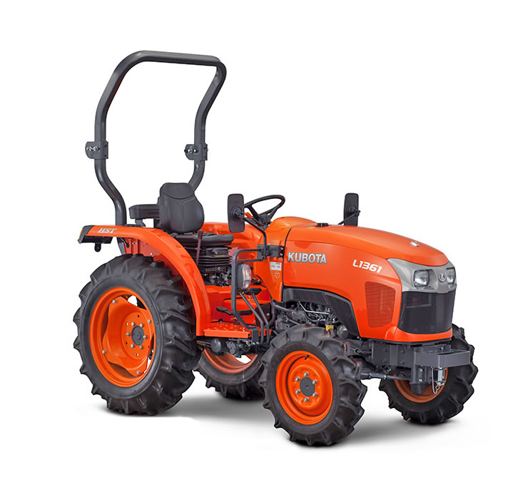 Small Tractor Implements For Gardening : Kubota l hst compact tractor garden machinery direct