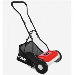 Cobra HM381 lawnmower and grass collector