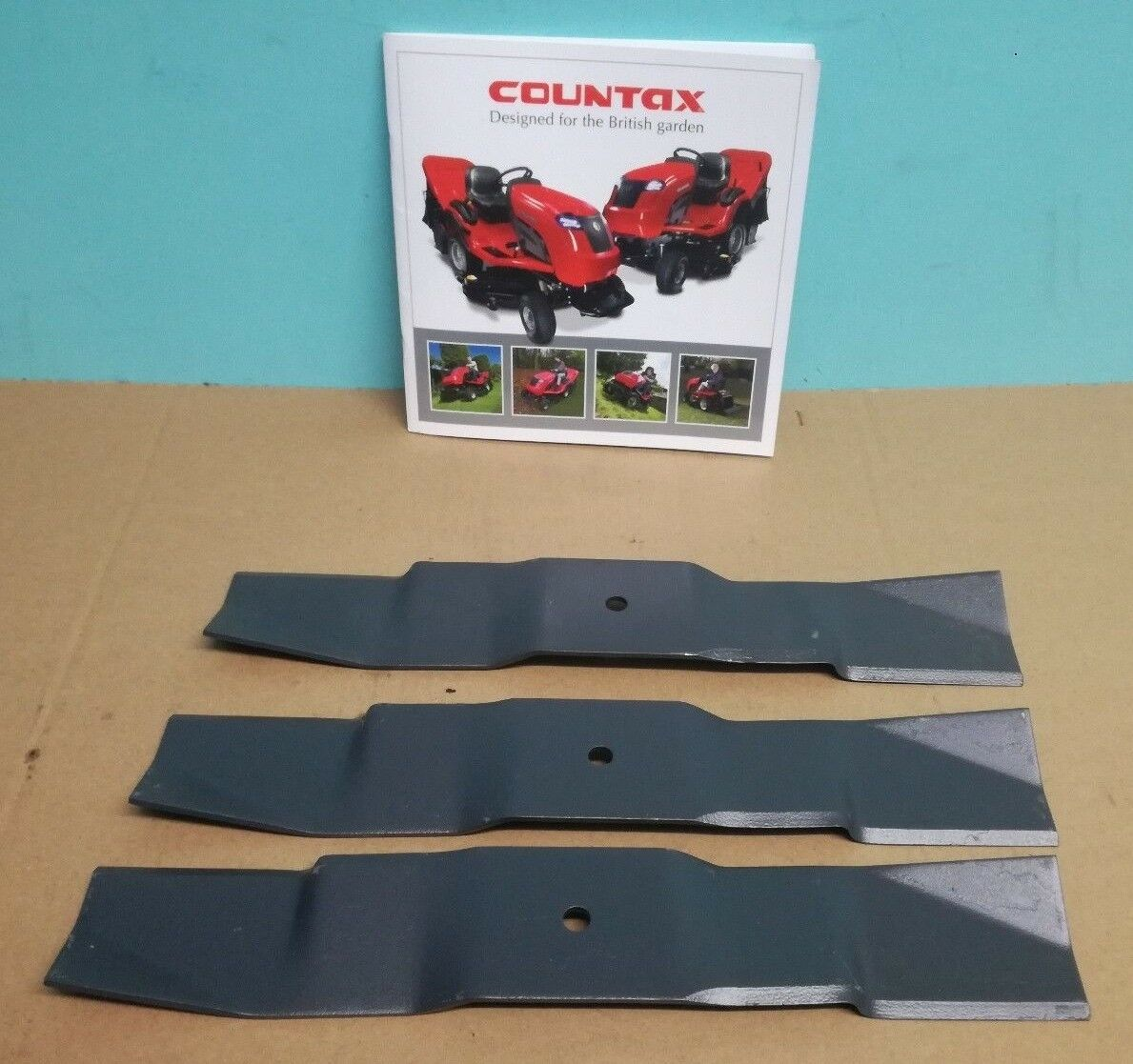 COUNTAX TRACTOR 38'' COMBI AND MULCHING BLADE SET